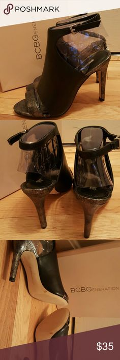 "High heel sandals 4"" cut-out shoe bootie  never worn because I wear a 7-1/2 medium & this shoe is made for a slim/narrow foot.  ?? Hate to sell but I have no use! New in box! BCBGeneration Shoes Sandals"