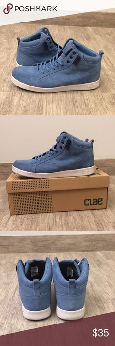 Clae Men's Russell Steel Suede Sneakers Good condition!  These shoes are gently worn.  Please note the box is not included. Clae Shoes Sneakers