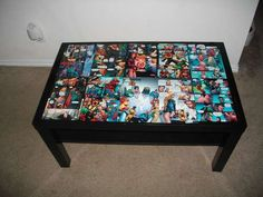 A cool way to decorate a coffee table.