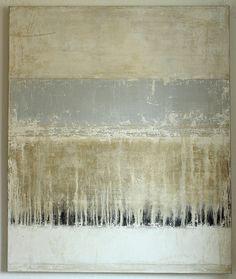 blue line - 120x100x4cm - mixed media on canvas - CHRISTIAN HETZEL