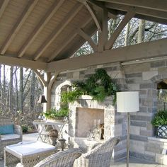 Get outdoor kitchen ideas from thousands of outdoor kitchen pictures. Learn about layout options, sizing, planning for appliances, cost, and more. Outdoor Areas, Outdoor Rooms, Outdoor Living, Outdoor Decor, Gazebos, Porches, Outside Living, Outdoor Kitchen Design, Kitchen Seating