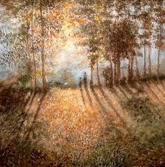 Appena fuori del bosco - Tempera su tela - Cm 51x51