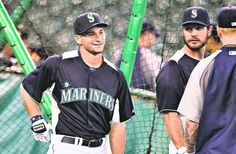 Catcher Mike Zunino, Seattle's No. 3 overall draft pick last month, took pregame batting practice Tuesday at Safeco Field. Zunino will begin his pro career with the Single-A Everett AquaSox. (ELAINE THOMPSON/THE ASSOCIATED PRESS)