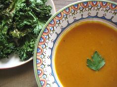 Curried Pumpkin Soup: Warm up with a bowl of curried pumpkin soup. Make it an even bigger treat with a side of savory kale chips.