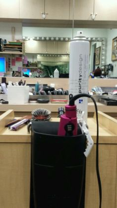 The Hot Iron Holster is perfect for leaving extra space for a client's purse or water in salons or Day Spas!