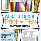 Counting Math Card Game / Center - Build a Fence This is perfect for students that need practice in counting out groups of objects to model a num...
