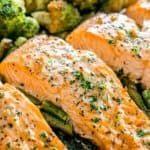 Delicious Salmon Recipes, Baked Salmon Recipes, Seafood Recipes, Dinner Recipes, Tilapia Recipes, Noodle Recipes, Fish Recipes, Lunch Recipes, Garlic Butter Sauce