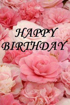 happy birthday, joyeux anniversaire, rose, pivoine
