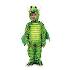 """Kostüm """"Drachen"""" aus weichem Textil, mit bunten Mustern und leuchtenden Farben, einfaches An- und Ausziehen, perfekt für Kleinkinder ab 2 Jahren, Fasching, Karneval, Feiern"""