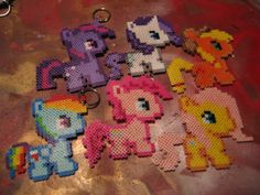 My Little Pony Perler Beads Keychains  by BlackMasqueCreations, $35.00