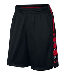 """LIGHTWEIGHT COMFORT FOR ALL 4 QUARTERS. Nike Elite Stripe Men's Basketball Shorts, made with lightweight Dri-FIT fabric, have a 9"""" inseam and the iconic Nike Elite Stripe on the side panel that looks"""