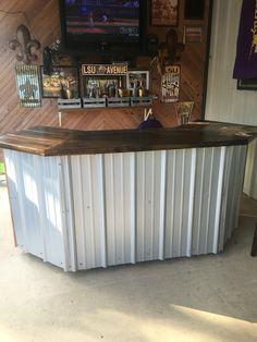 Custom built bar for patio my dad built