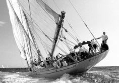 Puritan 1930 Plan John G. Alden -   Ce voilier est uen goélette de 31,33 m qui a été construite en 1931 par Electric Boat au USA. John G. alden en était l'architecte Naval. John Murford a conçu le design intérieur. Ce voilier a une coque en acier pour uen largeur de 6,95 m et un tirant d'eau de 2,74 m.  Ce voilier est équipé de cabines invités pour 8 personnes et 8 membres d'équipage.   La goélette est actuellement en vente chez Edmiston : 5 500 000 €