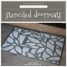 Do you have any new homeowners on your holiday gifting list? Is so, consider stenciling them a doormat! We have fab inspiration on our blog: http://blog.cuttingedgestencils.com/?p=11684  #cuttingedgestencils #stencils #stenciling #wallstencils