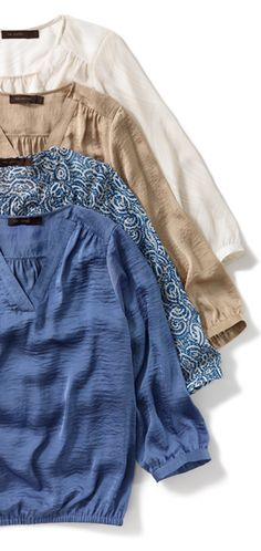 V-Neck Blouses #TheLimited #SummerChic