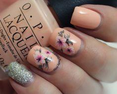 #Nails #Nailart #bornprettystore #waterdecals #softshades #orange #peach #polish #zoya #cosmo #chilllikeavillain #nailpolish #nailvarnish #varnish #springnails #floralnails #floralnailart #floral