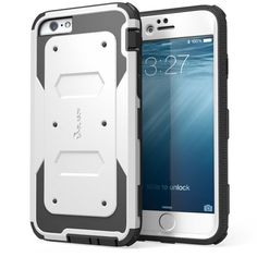 iPhone 6 / 6s Plus Case White i-Blason Heavy Duty Armorbox] Shock Absorb Bumper #iBlason