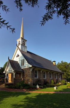 """""""Little Country Church"""" via justpics2007: This is the beautiful All Souls Church that is located in Scott, Arkansas."""