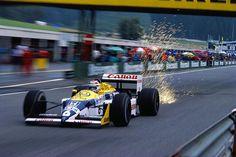 Nelson Piquet (BRA) (Canon Williams Team), Williams FW11B - Honda RA167-E 1.5 V6 (t/c - 4.0 Bar turbo limited) (finished 2nd)  1987 Austrian Grand Prix, Österreichring