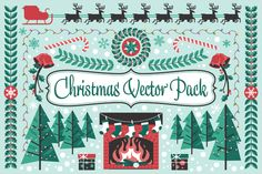 Check out Christmas Holiday Vector Pack by jeffportaro on Creative Market