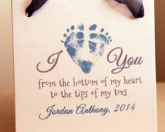 Your child's actual footprints footprint art by MyForeverPrints