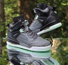 separation shoes 4c8f1 74c94 Jordan Spizike GG Black Mint Foam Dark Grey 535712-015 Kids Size 7.5Y WMNS 9