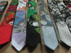 Superhero ties for a wedding... Too exciting