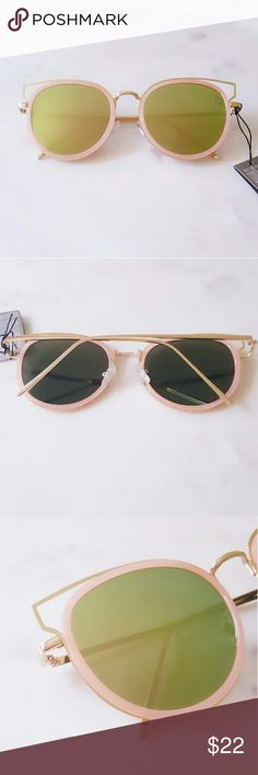 Fashion Sunglasses With Pouch Brand New Sunglasses  No Trades  Pink/Green Accessories Sunglasses