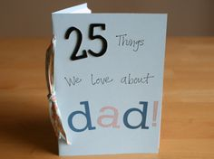 I'm sharing a fun Father's Day handmade gift over at Snackpicks today. We're creating these fun little booklets to showcase the 25 things we love about Dad. Head on over to Snackpicks to see how to create your own.