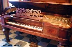 Steinway Square Grand Piano (1863); I saw a square grand piano in New Hampshire, it was absolutely beautiful!