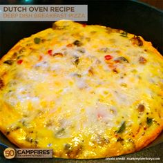 Dutch Oven Deep Dish Breakfast Pizza- I use home-made sausage gravy and omit italian seasoning. To that we add varied ingredients depending on what we're in the mood for. Dutch Oven Breakfast, Camping Breakfast, Breakfast Pizza, Breakfast Recipes, Breakfast Muffins, Breakfast Casserole, Dessert Recipes, Easy Dutch Oven Recipes, Cooking Beets In Oven