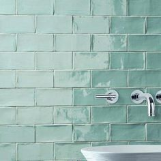 Merola Tile Cheltenham Acqua 3 in. x 6 in. Ceramic Wall Tile (1 sq. ft. / pack)-WNU36CAC - The Home Depot