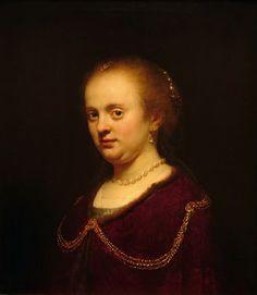 Harmensz van Rijn Rembrandt  Retrato de mujer joven1634