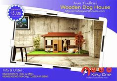 Asian Traditional Wooden Dog House Rumah Korea