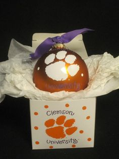 Clemson Tigers Ornament $23.99 Also Available in USC Colors