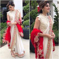 dhoti saree wedding * dhoti saree - dhoti saree style - dhoti saree how to wear - dhoti saree anamika khanna - dhoti saree wedding - dhoti saree sonam kapoor - dhoti saree designer - dhoti saree unique Pakistani Dresses, Indian Sarees, Indian Dresses, Bengali Saree, Saree Designs Party Wear, Saree Blouse Designs, Indian Fashion Trends, Indian Designer Outfits, Saree Draping Styles
