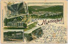 VINTAGE POSTCARD:  CZECH REPUBLIC - GRUS AUSS Mariánské Lázně - Marienbad 1897
