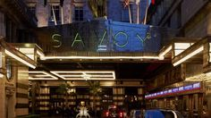 The iconic Savoy London sign. That you HAVE ARRIVED !!! Timeless