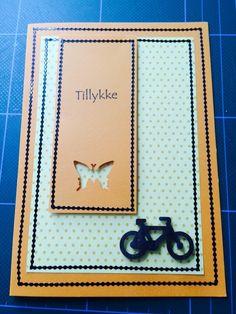 Kort / card Sommerfugl / butterfly Cykel / bike