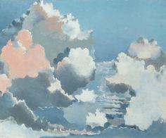 Paul Nash (English, 1889-1946), Cloudscape, 1939. Oil on canvas, 52 x 63cm. The British Postal Museum & Archive.