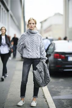 Style Inspiration: Chunky Winter Knits :: This is Glamorous - Total Street Style Looks And Fashion Outfit Ideas