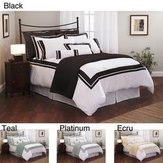 @Overstock - With its stunning color-inlaid design, this woven queen duvet cover set turns your bedroom into an elegant retreat. The set is made with 300-thread-count cotton, which creates an ultra-soft surface that feels comfortable next to your skin.http://www.overstock.com/Bedding-Bath/Roxbury-Park-Inlay-Queen-size-Duvet-Cover-Set/6338057/product.html?CID=214117 $102.86