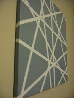 Decorating Cents: Pinterest Inspired Art- tape on canvas