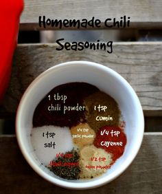 Homemade chili seasoning-- did this plus added black beans and a little honey