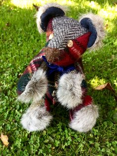 Remembrance bears from Bags Full of Memories, handmade from your loved ones clothing.