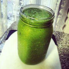 Mango Kiwi Green Smoothie #Recipe