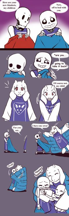 Undertale Blanket Monster Source: Got @zarla-s 's permission to do the Gaster's Moral Choice version of her blanket monster comic in which Toriel raises the two baby skels. Although, in my headcanon, they didn't come out of it completely unscathed.