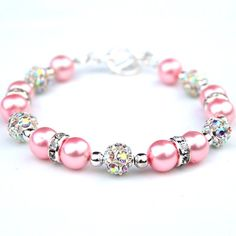 Valentines Jewelry Bubblegum Pink Pearl Bling by AMIdesigns, $24.00