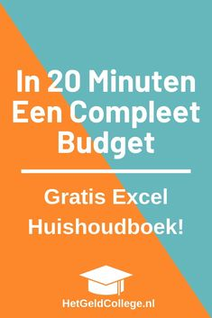 Met dit uitgebreide huishoudboekje maak je in 20 minuten een compleet maandbudget! Klik hier en download gratis. #huishoudboek #kasboek #huishoudboekjeexcel #budgetteren Cost Saving, Saving Tips, Saving Money, Monthly Budget, Budgeting Money, What I Want, Credit Score, Organization, Organizing
