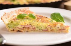 Low-Carb Crustless Quiche - (Evidently you're supposed to ignore the crust in the picture.)